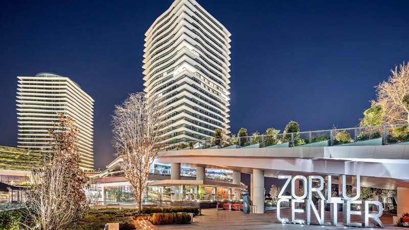 Zorlu Shopping Center; A shopping center serving with different brands and event options.